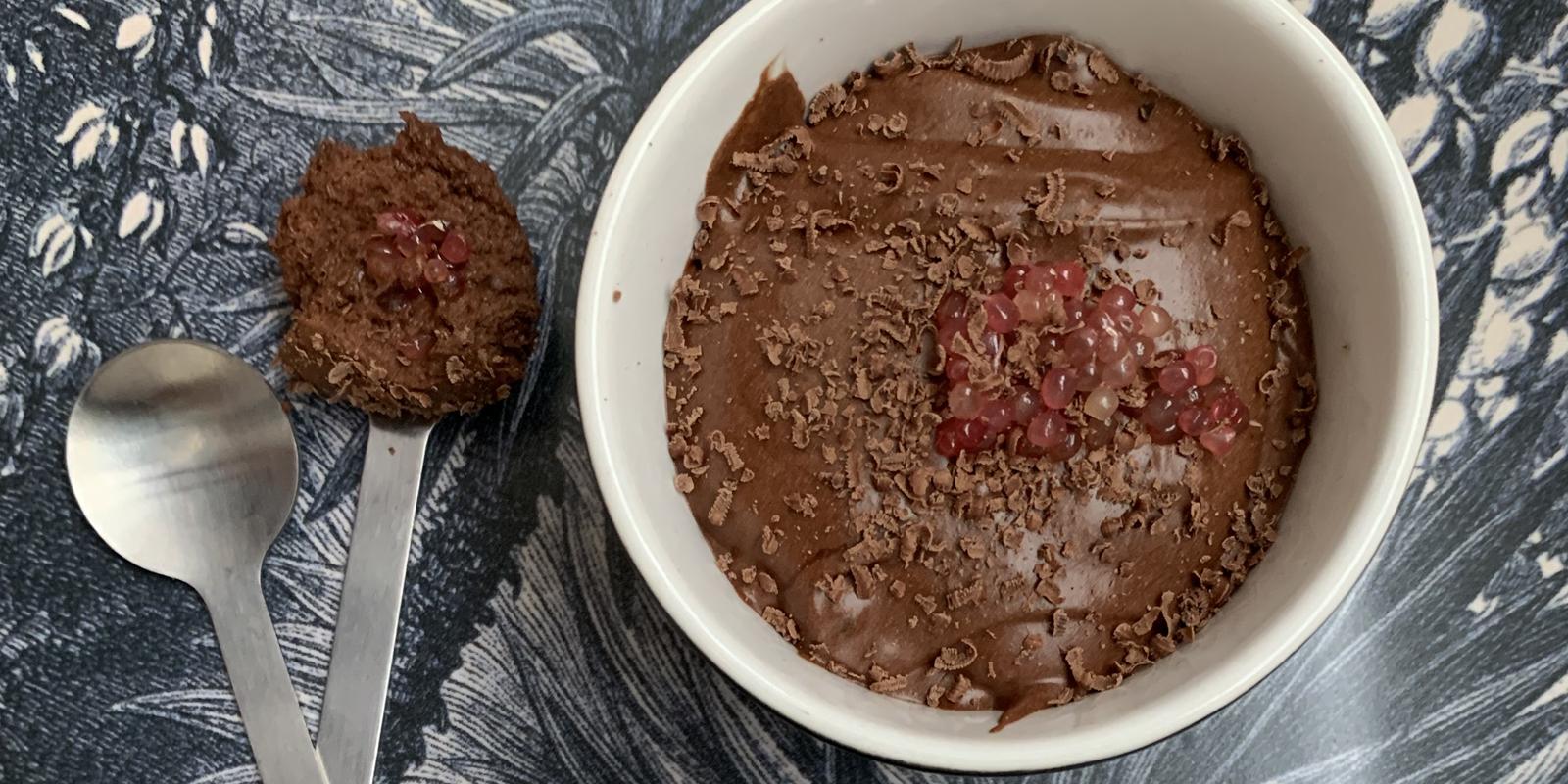 Mousse au chocolat et Citron Caviar