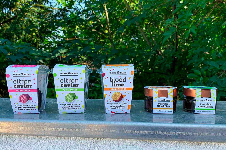 gamme de produits fruits at home