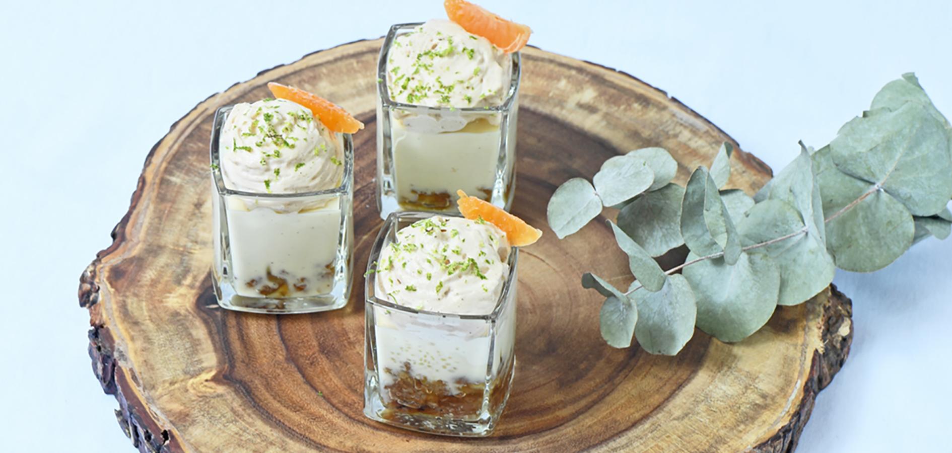 Panna cotta recette originale au marron et au citron caviar