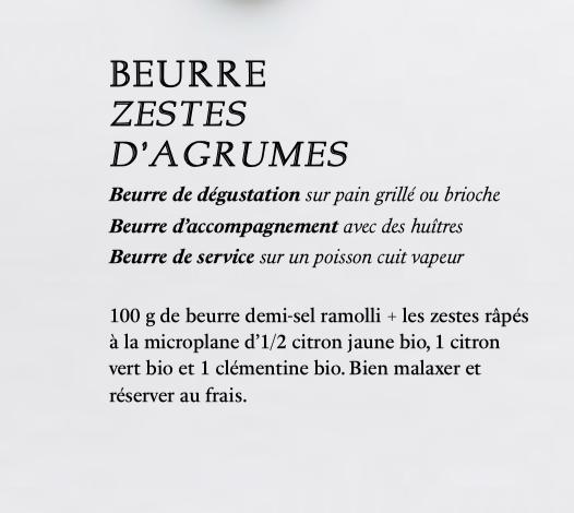 beurre zestes d'agrumes recettes