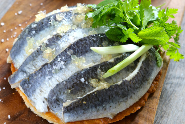 tartelette_aux_sardines_citron_caviar_gingembre_fruits_at_home