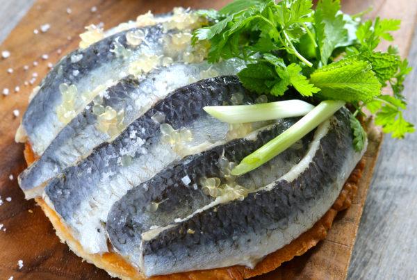 tartelette_aux_sardines_citron_caviar_gingembre_fruits_at_home