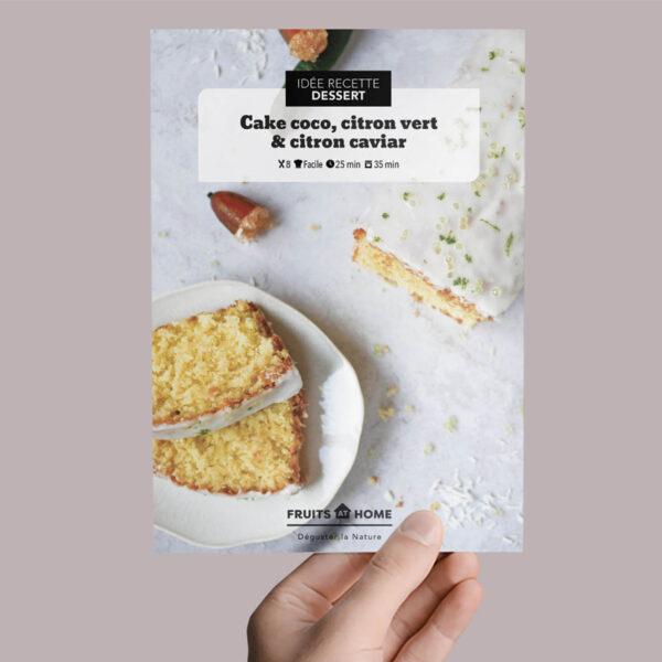 cake coco citron vert et citron caviar fiche recette